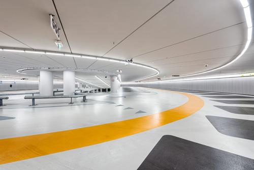 Nieuwe ondergrondse parkeergarage in binnenstad Leiden